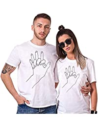 Sai Shree Couple Nightwear T Shirt | Concupiscence T Shirt for Loved Ones | Attachment | Free Size White