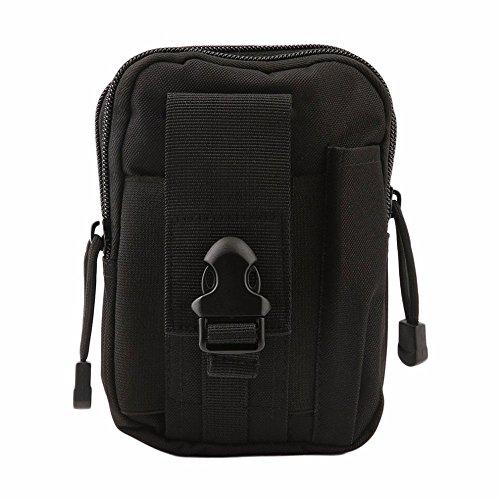 YUDODO Herren Gürteltasche Molle Pouch Taktische Hüfttaschen Sport Outdoor Survival Tasche Schwarz