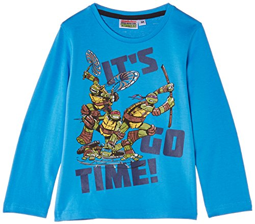 Nickelodeon Jungen T-Shirt Teenage Ninja Mutant Hero Turtles NH1273, Gr. 98 (Herstellergröße: 3 ans), Blau (Blithe Blue) (Blue Turtle Ninja)
