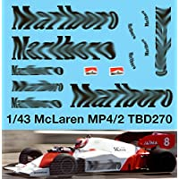 1//43 McLaren Honda MP4//5 F1 Ayrton Senna 1989 Decals TB Decal TBD267