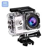 VBESTLIFE Action Cam Videocamera Subacquea Ultra HD Sport Action Camera Mini DV con Custodia Impermeabile da 7 Colori(Bianco)