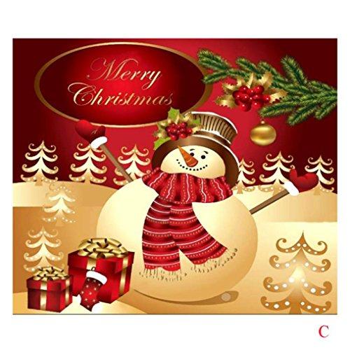 Weihnachten Gobelin Handtuch gotd Xams Tapisserie Raum Tagesdecke, Wandbild, Überwurf, Decke 150cmx130cm Snowman C