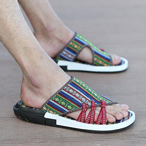 Xing Lin Sandales Pour Hommes La Jeunesse De L'Été Chaussures En Plastique Adhésif Couleurs Mixtes Tongs Sandales Sandales folk-custom