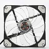 EdBerk74 Ventilateur d'ordinateur Ultra Silencieux 120mm LED 15 LED 12V avec connecteur Molex Silencieux en Caoutchouc Ventilateur Facile à Installer