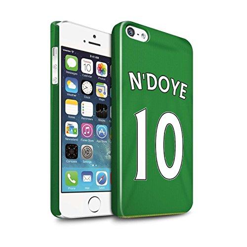 Officiel Sunderland AFC Coque / Clipser Brillant Etui pour Apple iPhone SE / Pack 24pcs Design / SAFC Maillot Extérieur 15/16 Collection N'Doye