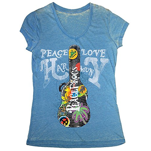peace-frogs-guitar-case-ladies-licensed-v-neck-burnout-t-shirt