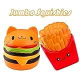 Naisicatar Juguetes para apretar Kawaii Hamburger Cat Suaves de los Juguetes para ni/ños Una Buena elecci/ón