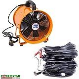 Industriel Extracteur Portable Ventilateur Air Axial Métal Souffleur Commercial...