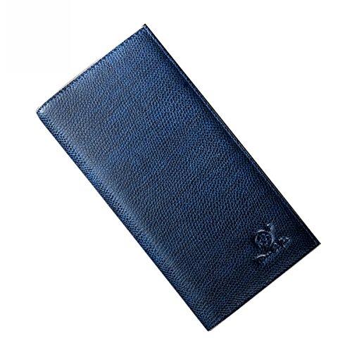 Lt Tribe Kompakte Geldbörse aus Leder für Herren und Frauen - Blau - Large - Gerahmte Geldbörse Aus Leder