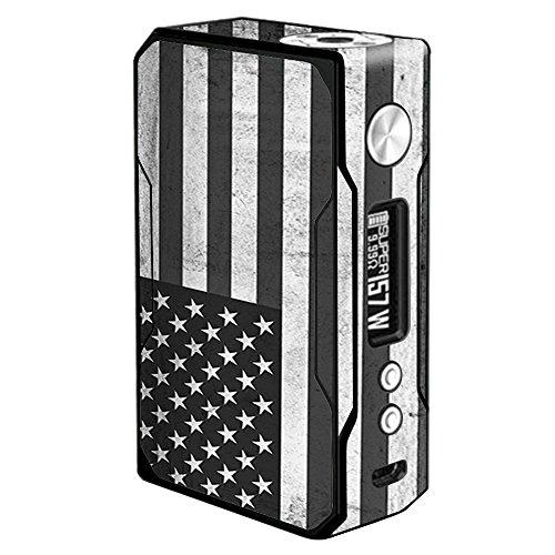 Usa Flag Kit (Vinyl-Aufkleber für VooPoo Drag 157W TC Vape Sticker Skins Cover Schwarz Weiß Grunge Flag USA Amerika)
