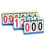 Sue Supply 1 Stück 4 Digital Tisch Top Tragbarer Anzeigetafel/Score Flipper Für Multi Sport Basketball Tischtennis Fußball Volleyball Badminton Tennis