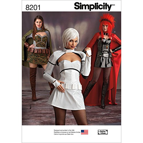 Simplicity Schnittmuster 8201Misses 'Cosplay Kostüme, ()