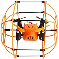 Price comparsion for RC Mini Drone EBILUN Remote Control 2.4GHz 6 Axis 360 Flip Automatic Mode Quadcopter Sky Walker Climbing Wall Aircraft RC Quadcopter Christmas, Birthday Gift for Helic Max 1336 Orange
