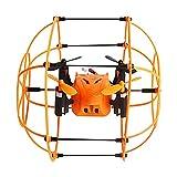 Ebilun 2,4 GHz 6 Achsen Fernbedienung Drohne, Mini Fernbedienung Flugzeug Walker Kletterwand Quadcopter Orange