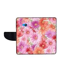 KolorEdge Printed Flip Cover For Microsoft Lumia 540 -Multicolor (50KeMLogo10509Lumia540)