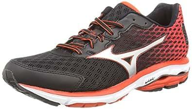 Mizuno Wave Rider 18, Men's Training Running Shoes, Black