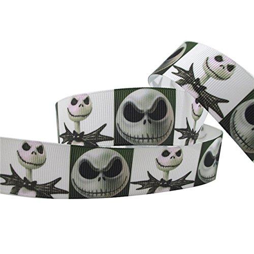 "1Metre Halloween Jack pesadilla antes de Navidad cráneo esqueleto negro Character Cartoon Cinta 1""25mm"