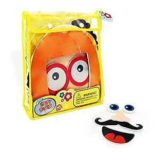 Meadow Kids MEA-MK032 - Puzzle de caras para baño con redecilla para guardar