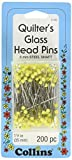 Collins COL106 200 Piece Yellow Head Glass Pins, 1-3/8'