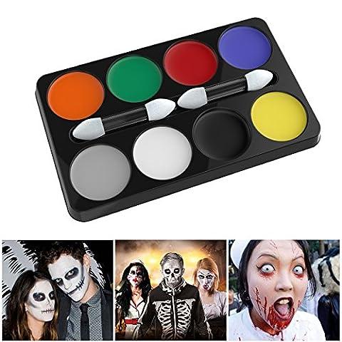UNOMOR Halloween Horror Make Up Kit Palette mit 8 Farben