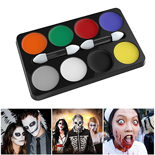 UNOMOR Halloween Horror Make Up Kit Palette mit 8 Farben fur Halloween Party Kosmetik Schminkpalette Kit (Vampir Hexe Kostüm Make Up)