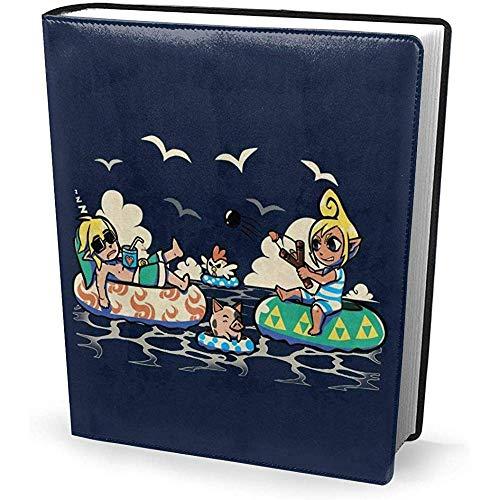 Portada del libro 9x11 pulgadas Summer Sailing Days Legend of Zelda - Estirable lavable reutilizable