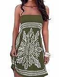 EMMA - Vestido - Sin tirantes - para mujer, Ejercito Verde, Large