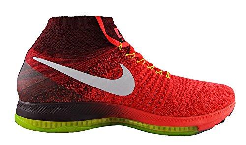 Nike Herren Zoom All Out Flyknit Laufschuhe Rojo (Bright Crimson / White-Team Red-Volt)