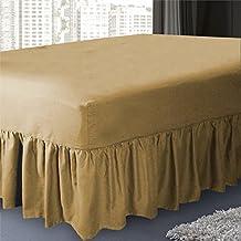 Color marrón mezcla de polialgodón 50: 50sábana bajera por dormir y sonrisa: doble tamaño Color marrón