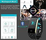 AsiaLONG Fitness Tracker mit Pulsmesser, Schrittzähler Uhr Fitness Armband Wasserdicht Aktivitätstracker mit Schlafmonitor, herzfrequenz, Kalorienzähler, Vibrationsalarm Anruf SMS Whatsapp Beachten mit IOS Android Smartphones (Upgrade Version) - 6