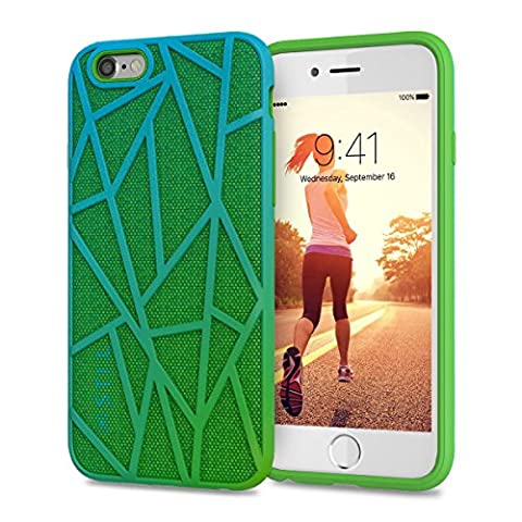 Coque iPhone 6 Coque iPhone 6s | JAMMYLIZARD | Coque de protection cover original sport 2 en 1 couleur vribrante Coque iPhone 6 6s, Vert et