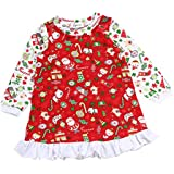 MagiDeal Christmas Kids Baby Girl Casual Long Sleeve Red Santa Party Dresses XMAS Costume