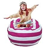 Grande Toy Storage Bag, extra-large canvas Stuffed Animal Bean Bag di immagazzinaggio bag Chair Kids Plush Toy organizer, ripulire la stanza ideale Taglia libera Rose Red