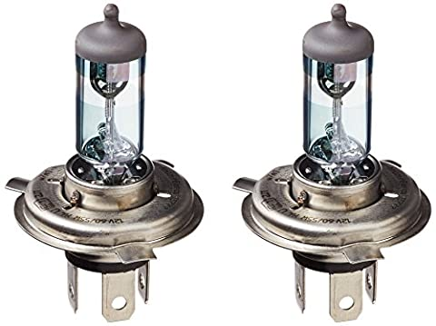 AmazonBasics Automotive Headlight Bulbs - H4 (90%) - 12V/55-60W/P43t - Pack of 2