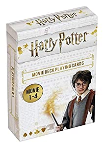Cartamundi 108174128a Harry Potter - Juego de Cartas (películas 1 a 4), diseño de Harry Potter