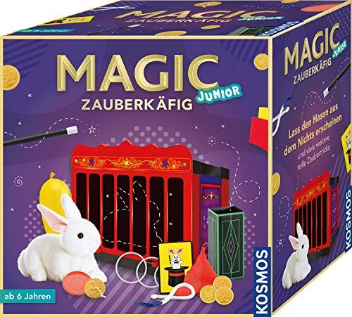 KOSMOS 698843 Magic Zauberkäfig Lass den Hasen aus dem Nichts erscheinen und viele weitere tolle Zaubertricks Zauberkasten, für Kinder \nab 6 Jahre