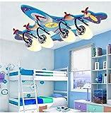 Lampade da soffitto a LED per Bambini Lampade da soffitto telecomandate Creative per lampadari per aeromobili in Acrilico