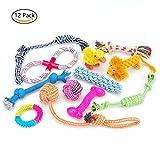 12 Spielzeuge für Hunde, Kauspielzeug, Seil und Hundeball sind geeignet für kleine bis mittelgroße Hunde.