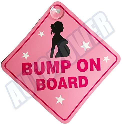 Bump-On-Board-Suction-Cup-Safety-Fun-Car-Display-Window-Badge-Sign