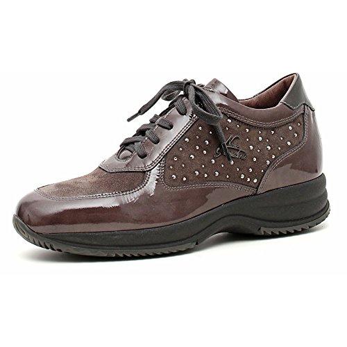 Nero Giardini Sneaker Donna Vernice/Camoscio A309670D Naplak Carbone