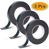 Confezione da 3 rotoli di nastro biadesivo, 30 m, 25 mm, in schiuma, impermeabile, per il montaggio di targhe automobilistiche