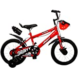Outdoor Bikes Jaunty BMX Red Black 16 inches Bicycle for 5 to 8 Age Group (Semi Assembled with Assembly Instruction Manual & Tool Kit)