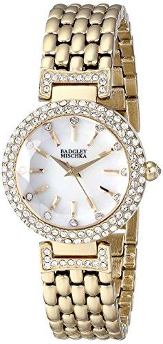 badgley-mischka-femmes-de-ba-1344wmgb-swarovski-crystal-accented-dore-montre-bracelet