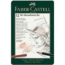 Faber-Castell 112975 Stylo bille Noir, Noir, Noir, Noix, Blanc