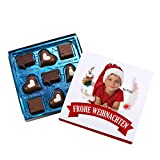 Lindt Hello Pralinen zu Weihnachten mit eigener Banderole ein köstliches Geschenk für Schokoladen-Liebhaber Schneekugel
