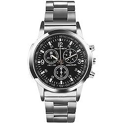 Uhren, Herrenuhren, KUXIEN Herren Business Casual Dress Sport Armbanduhr, klassische Edelstahlgehäuse Armbanduhr (Style1)