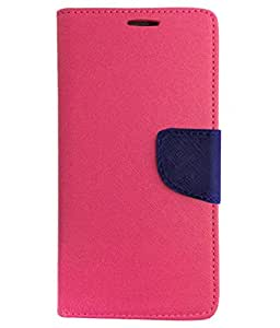 Avzax Flip Case Cover with Magnetic Closure For Micromax Canvas 2 Colors A120 (Pink)