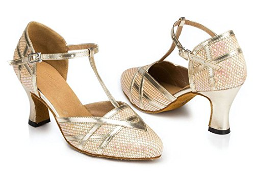 TDA - Sandali con Zeppa donna 7cm Heel Gold
