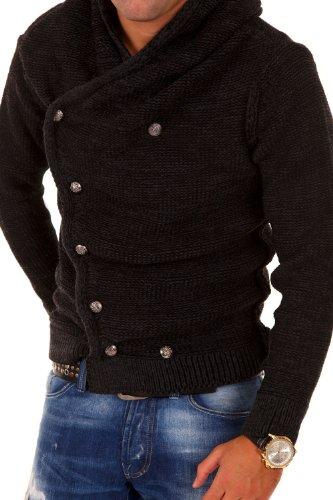 Carisma Strickjacke mit Kapuze Pullover 7110 Dunkelgrau