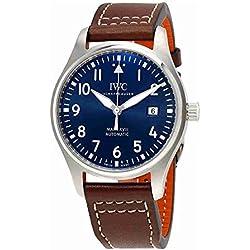 IWC Hombres de Cuarzo Reloj de Acero Inoxidable, Color: marrón (Modelo: iw327004)